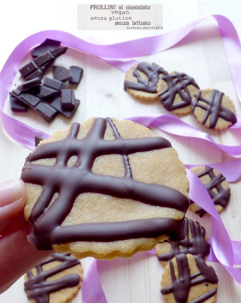 frollini al cioccolato vegan senza glutine