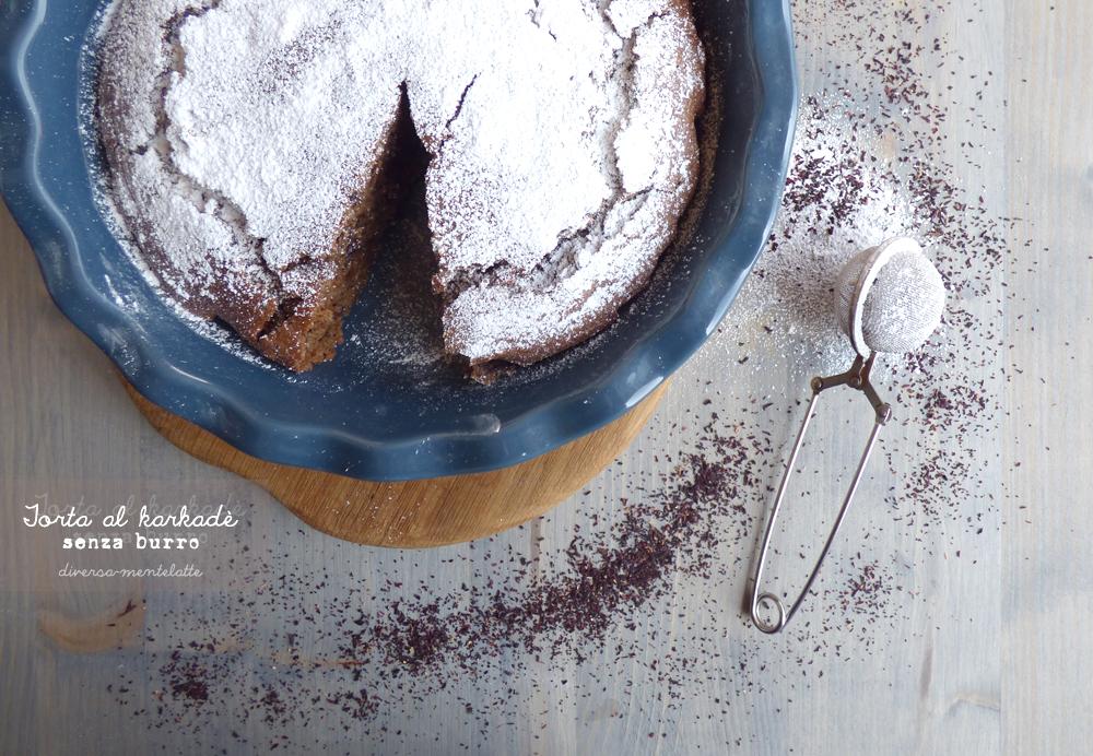 torta al karkadè senza burro