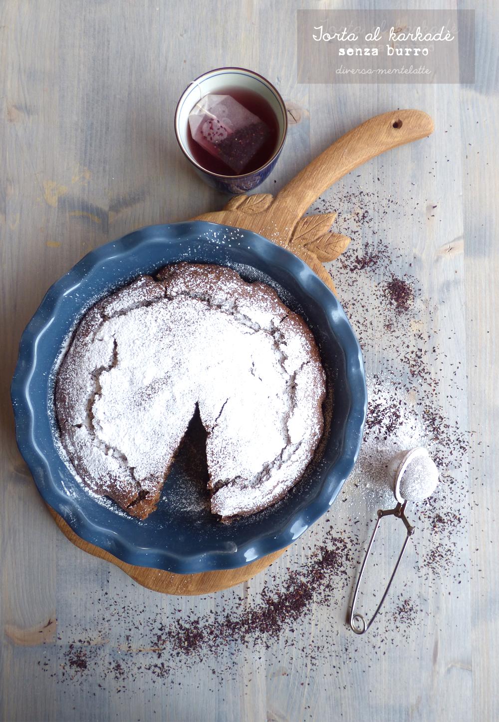 torta al karkadè senza latticini