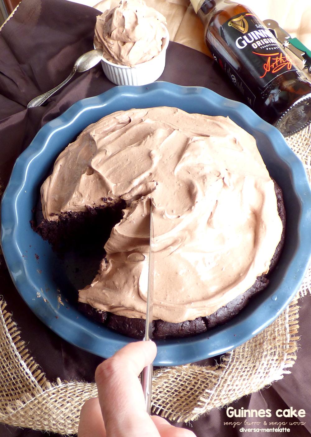 guinnes cake senza lattosio e senza uova