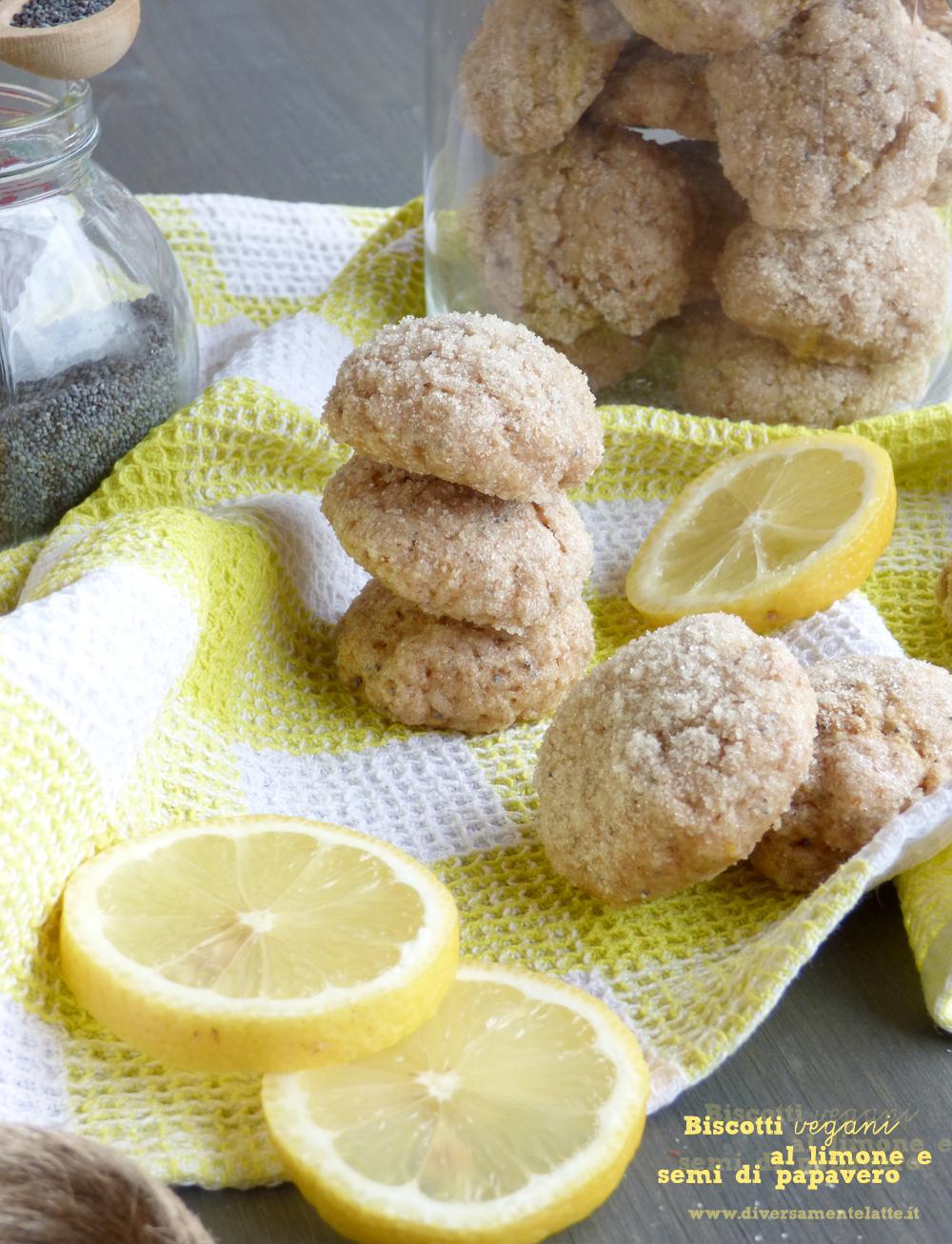 biscotti al limone e semi di papavero senza lattosio