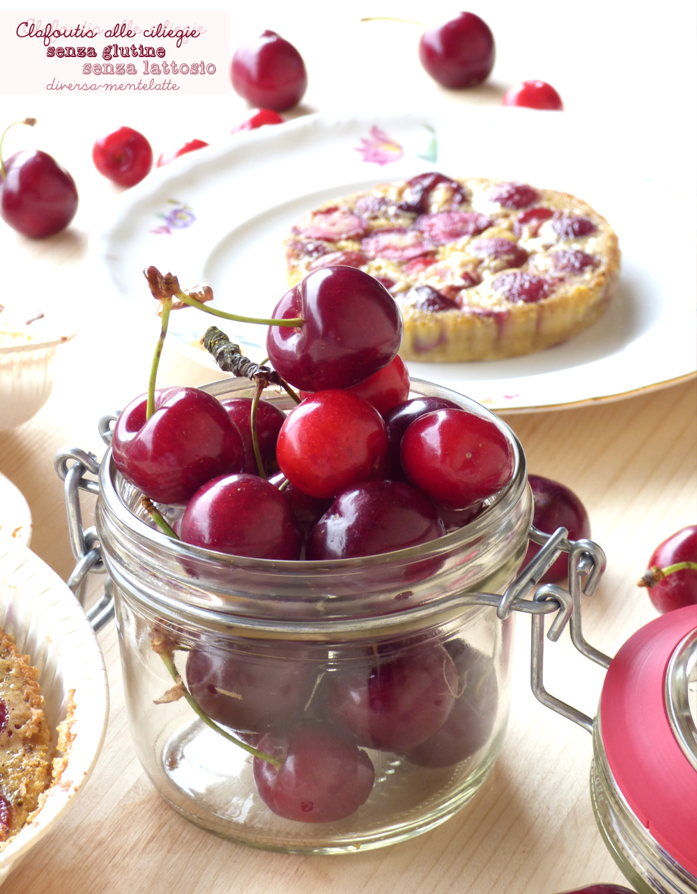 clafoutis alle ciliegie senza glutine senza lattosio