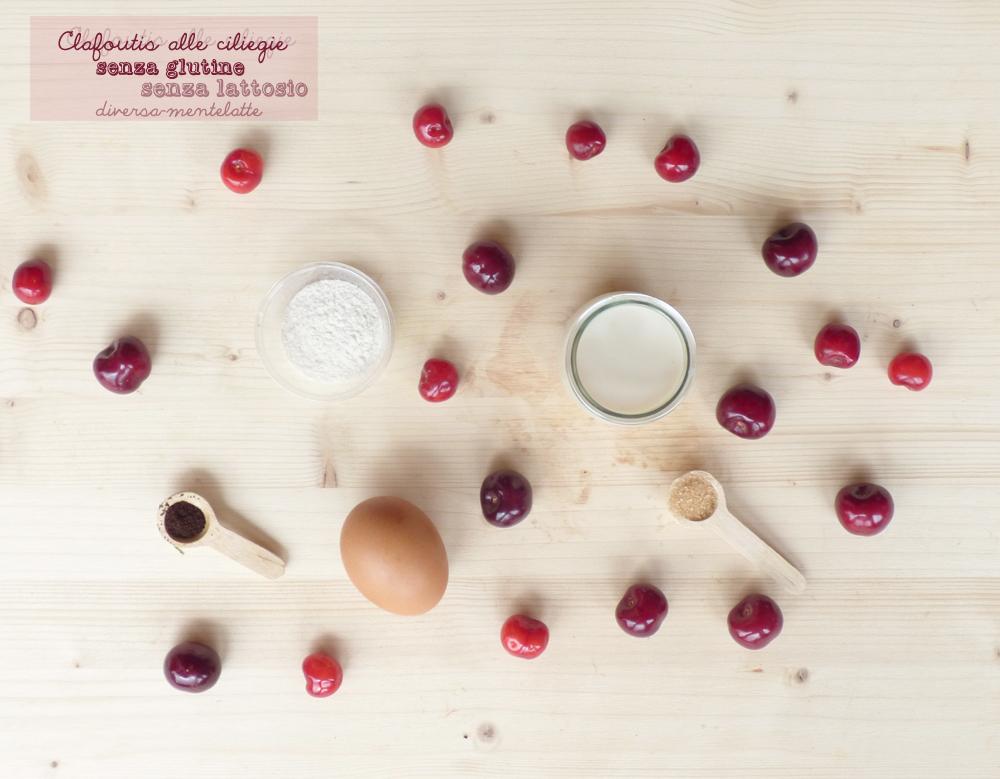 ingredienti clafoutis alle ciliegie senza glutine