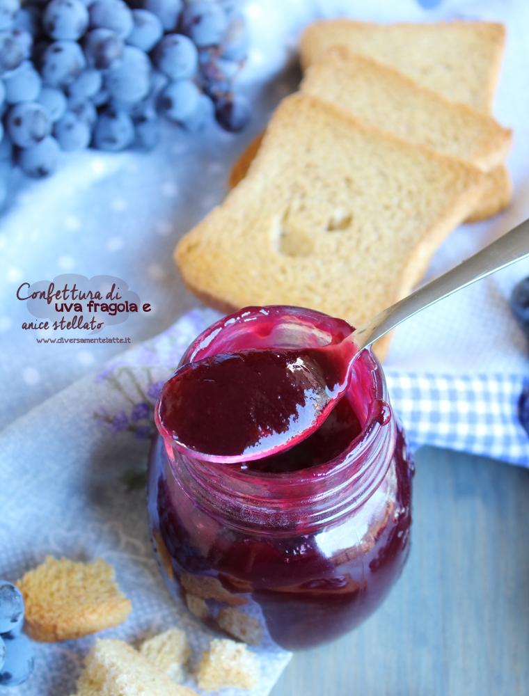 confettura di uva fragola e anice stellato