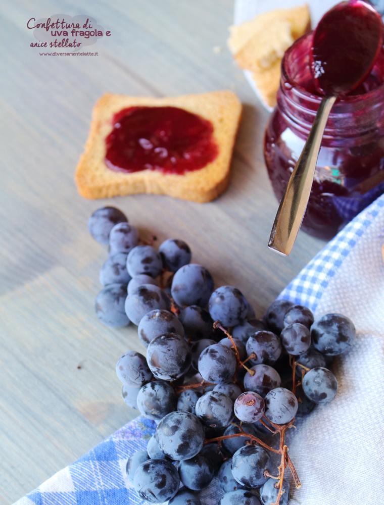 confettura uva fragola