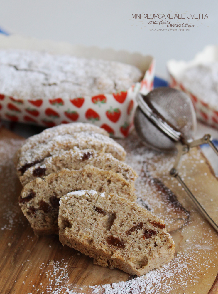 mini plumcake all'uvetta