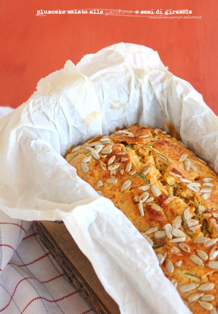 plumcake alle zucchine e semi di girasole