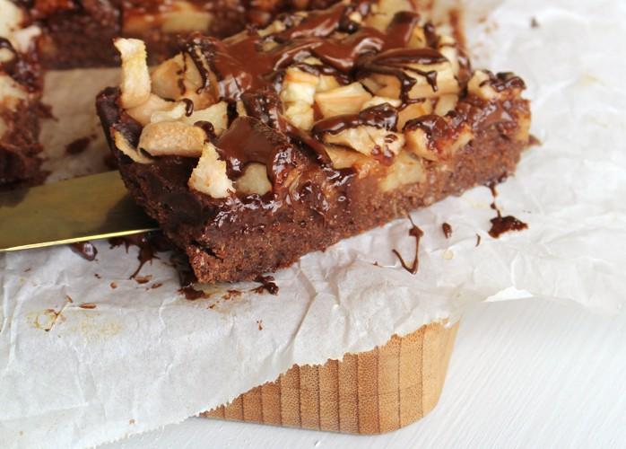 Brownies cioccolato e pere senza uova senza burro