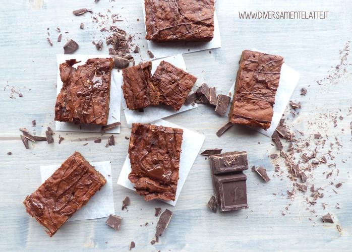 Brownies con avocado al cioccolato, senza lattosio e senza glutine