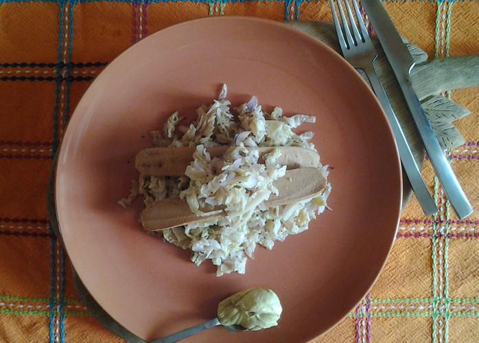 La felicità è un piatto di crauti e wurstel vegetali