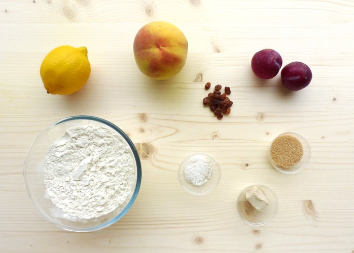 Focaccia dolce alla frutta