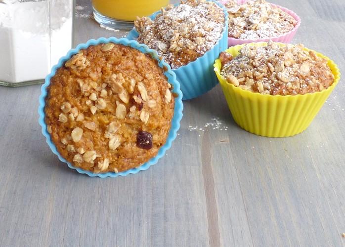 Muffin vegani alle carote e zenzero