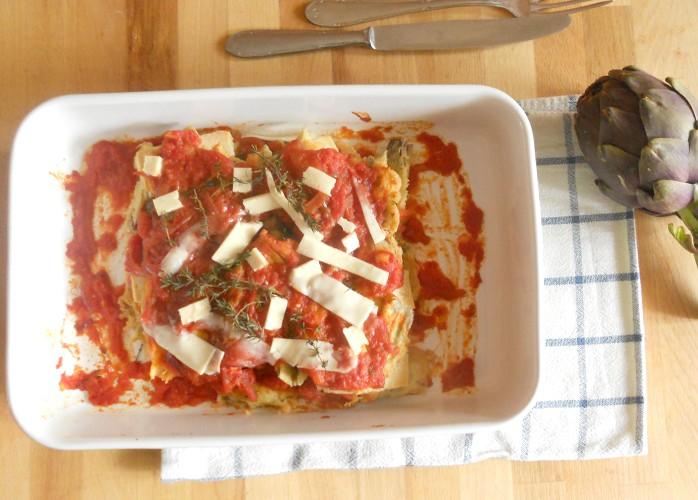 Parmigiana di carciofi e tofu