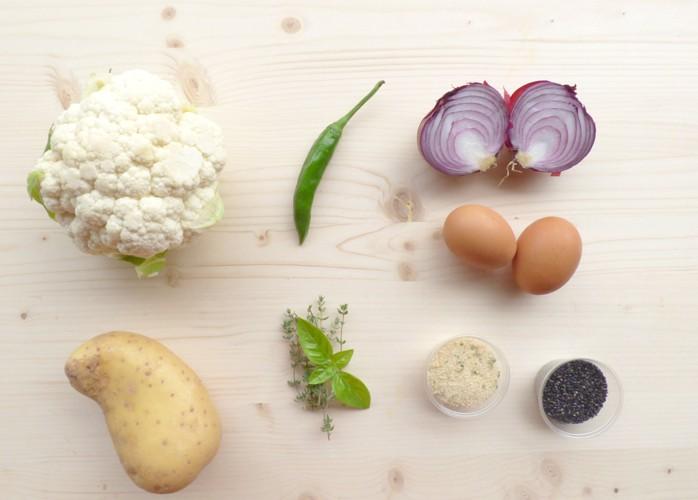 Polpettone di cavolfiore e patate senza lattosio