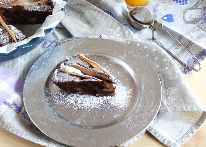 Torta cacao pere senza glutine, senza lattosio, senza lievito