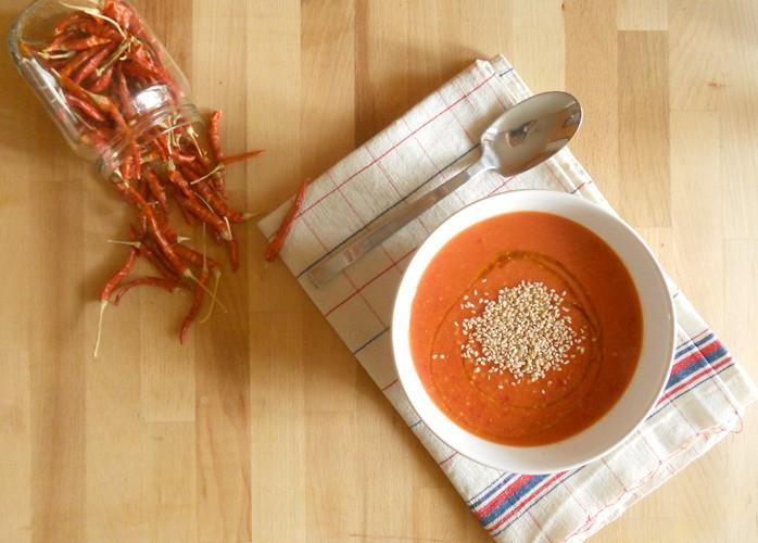Vellutata arancione (piccante) di zucca e carota
