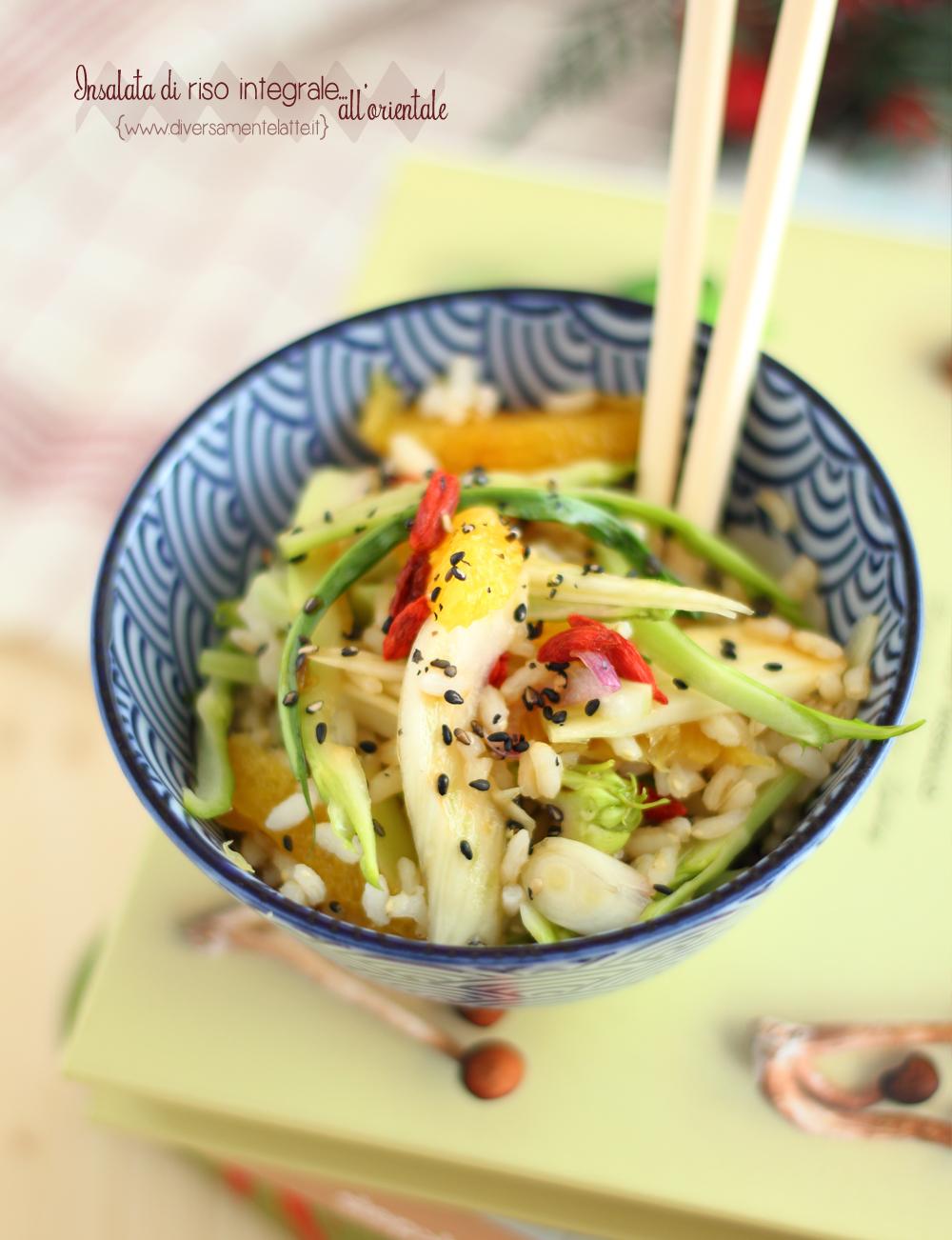 insalata di riso itegrale oriental style