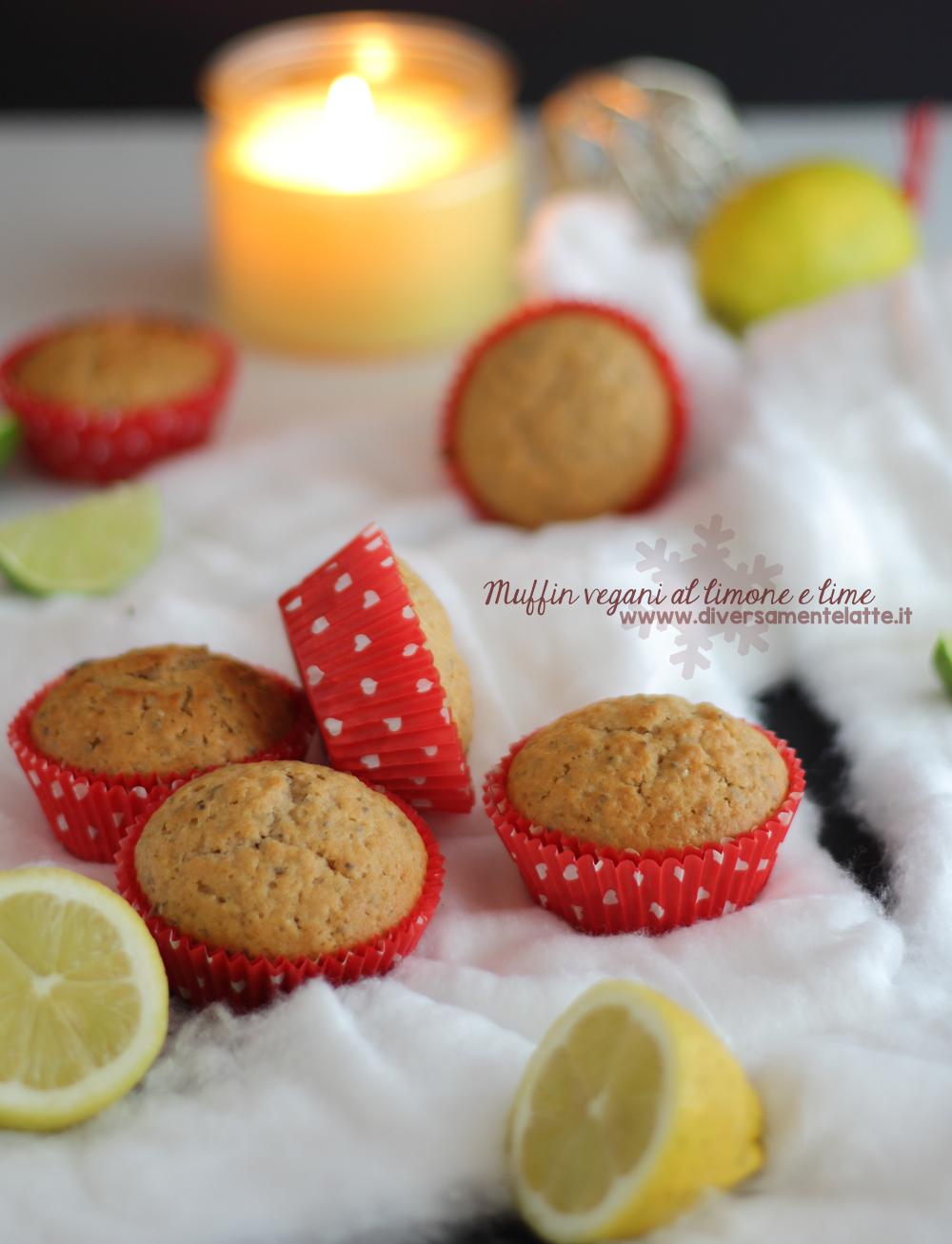 muffin limone e lime senza burro