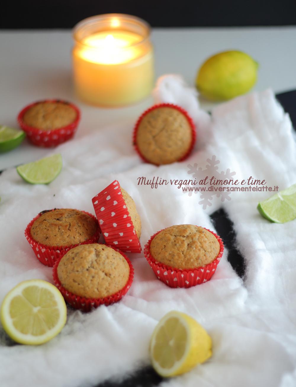 muffin vegani limone e lime