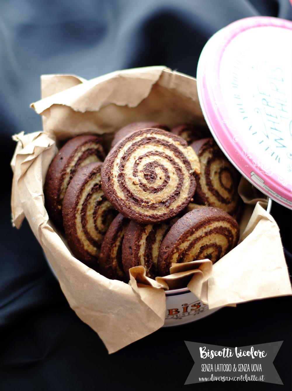 biscotti bicolore senza lattosio senza uova