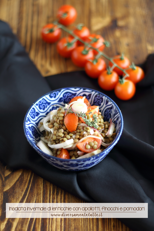 Insalata invernale di lenticchie