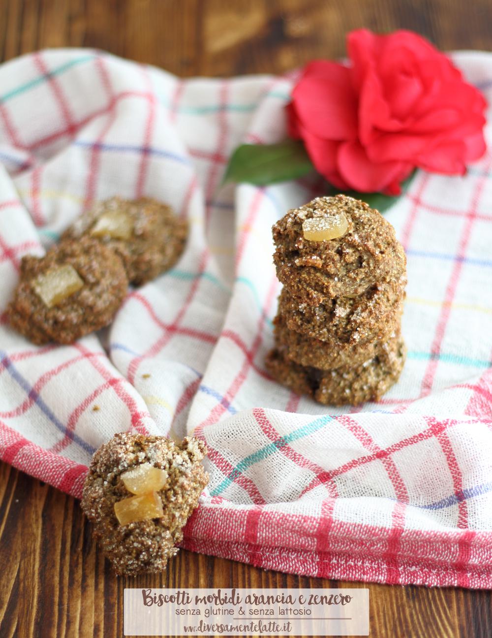 biscotti morbidi arancia e zenzero-senza glutine senza lattosio