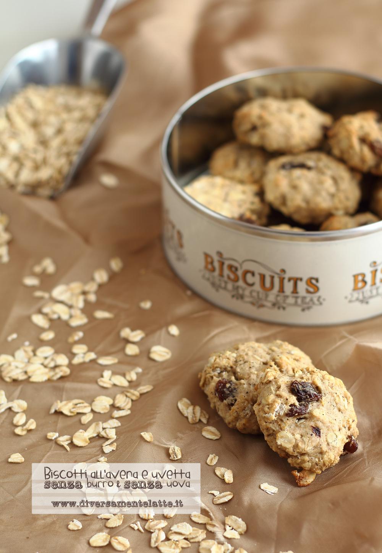 biscotti avena e uvetta senza burro senza uova