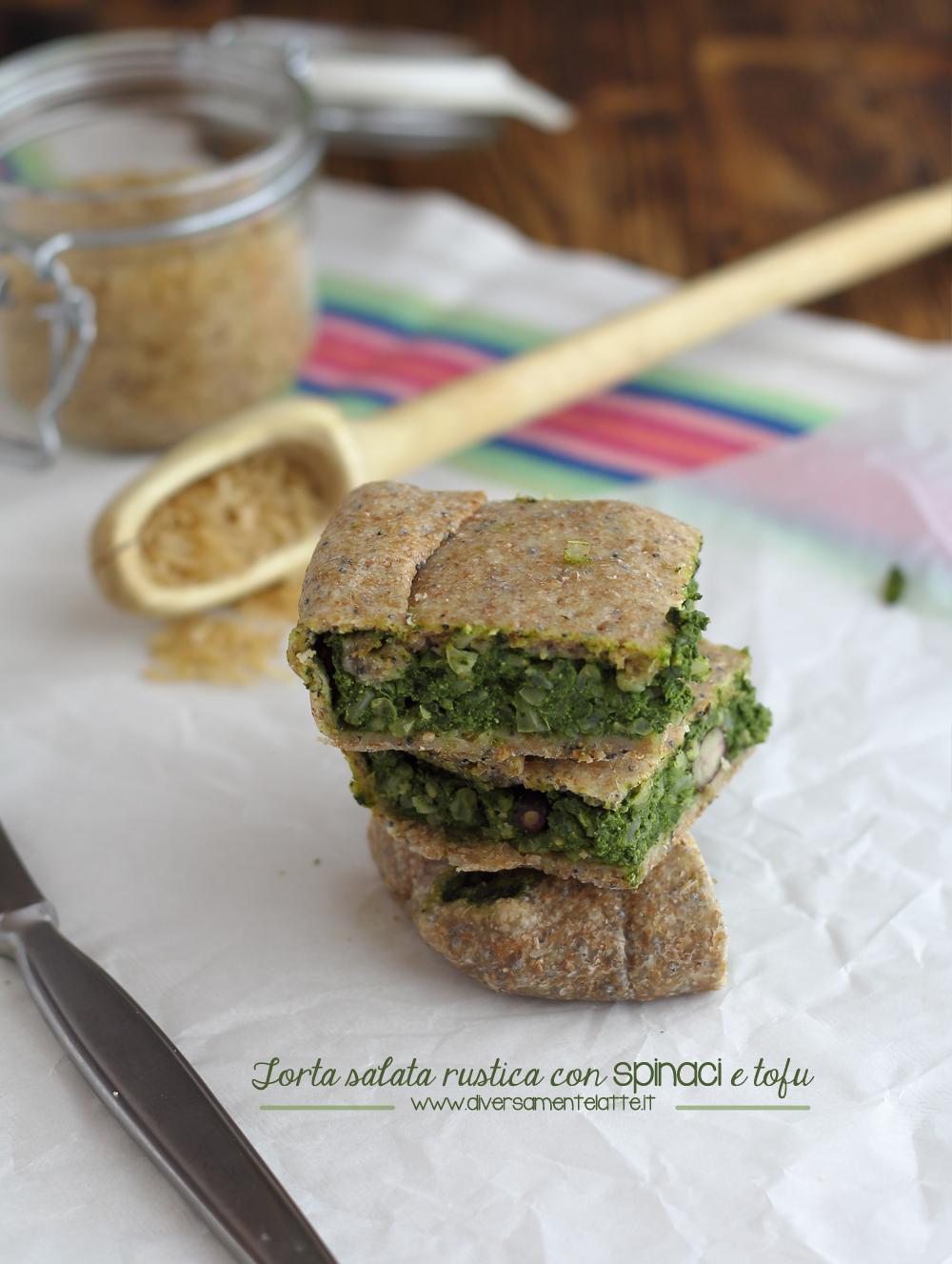 torta salata spinaci e tofu senza lattosio senza uova