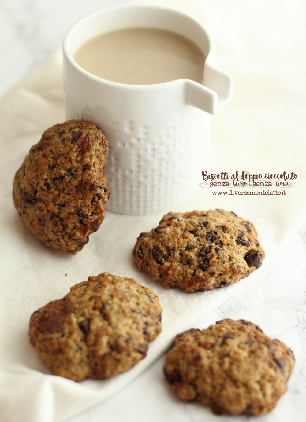 biscotti al cioccolato bianco di soia e fondente