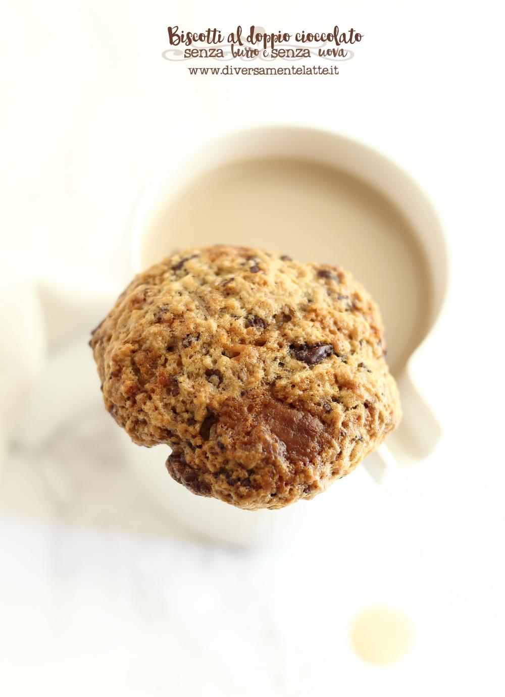 biscotti al doppio cioccolato senza lattosio
