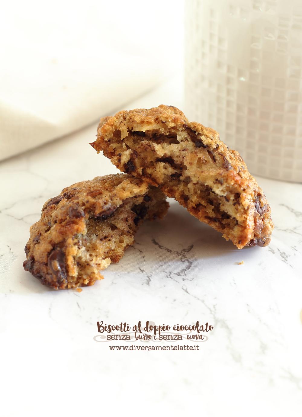 biscotto al doppio cioccolato senza burro senza uova