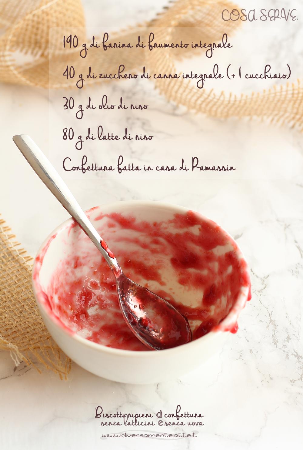 ingredienti biscotti ripieni di confettura