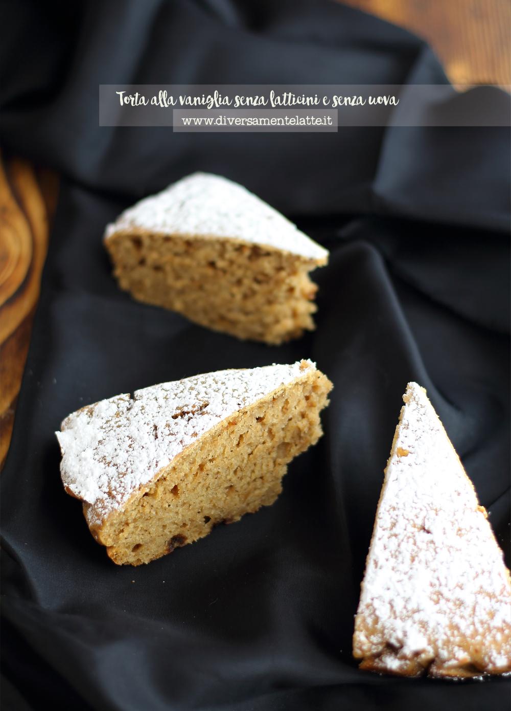 torta alla vaniglia senza lattosio