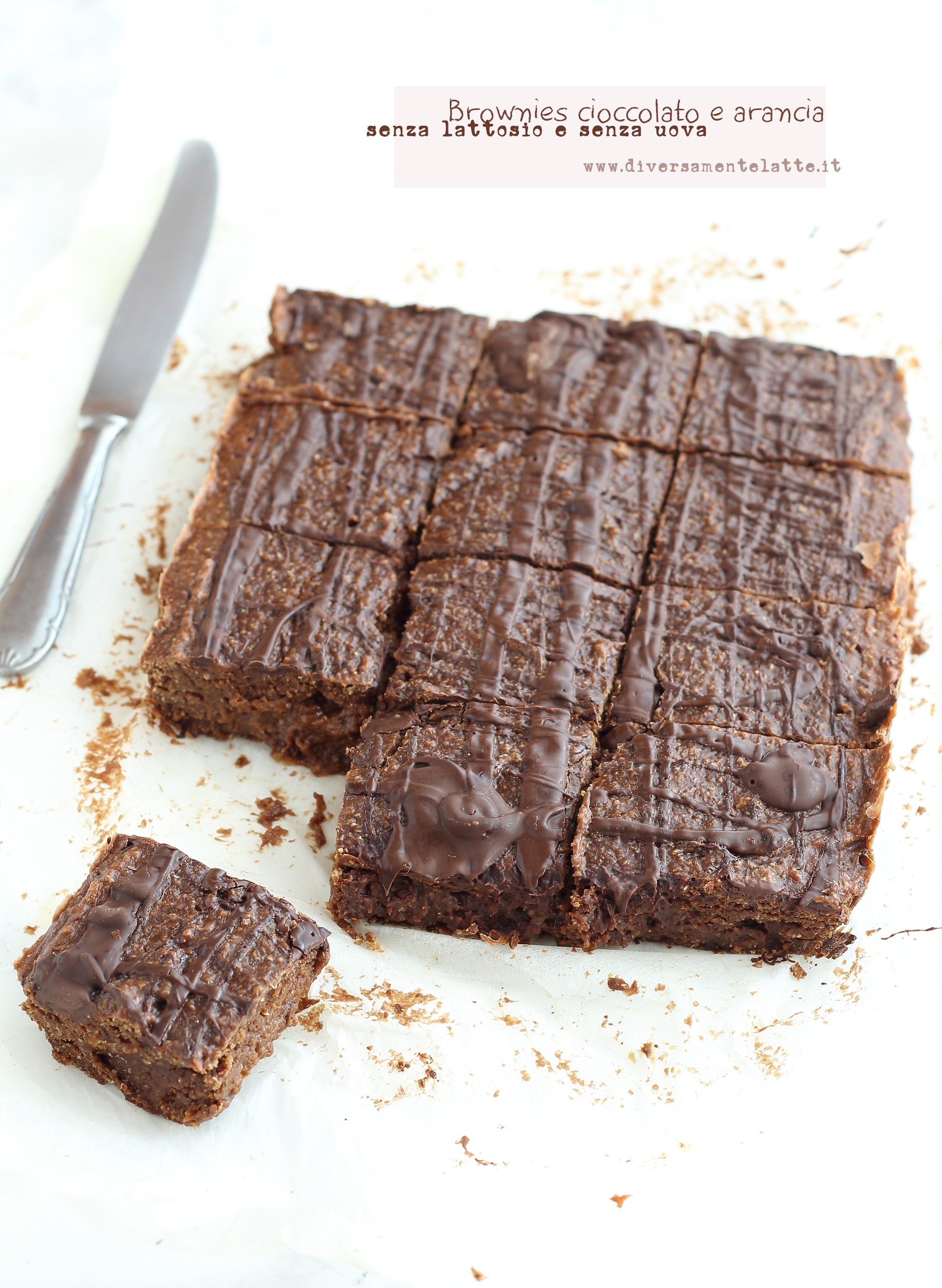 brownies cioccolato arancia senza lattosio senza uova