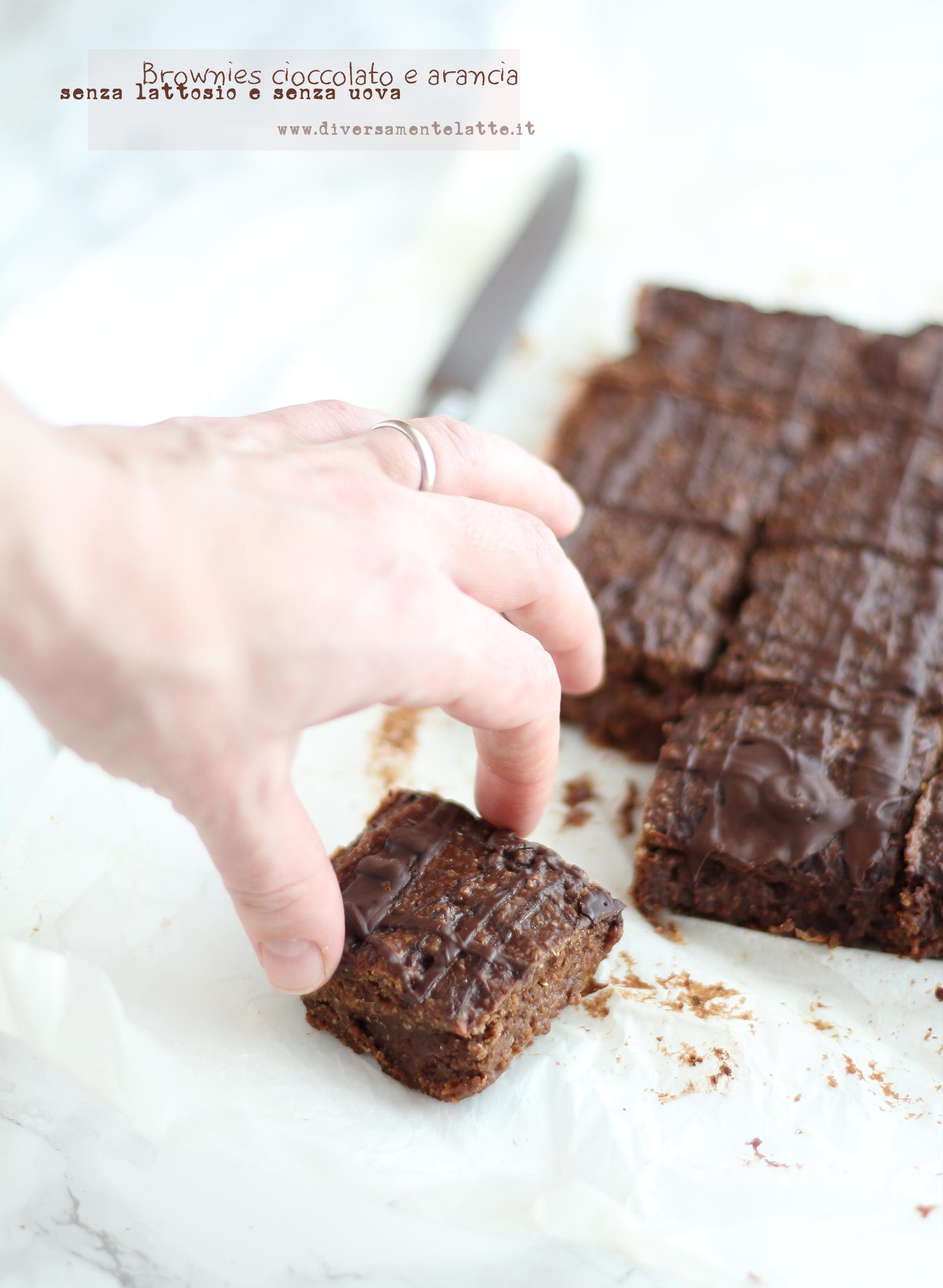 brownies cioccolato arancia senza lattosio