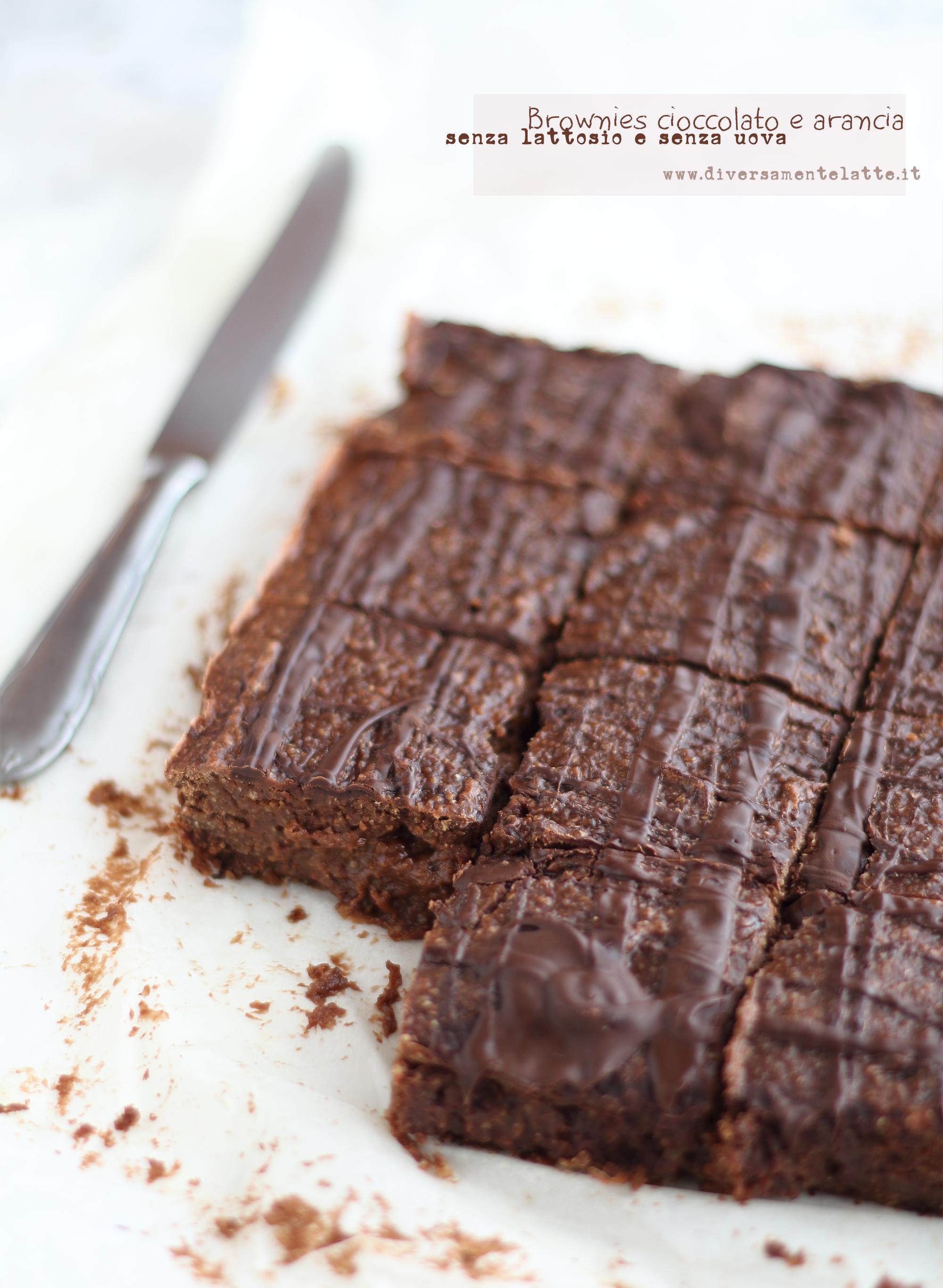 brownies cioccolato arancia