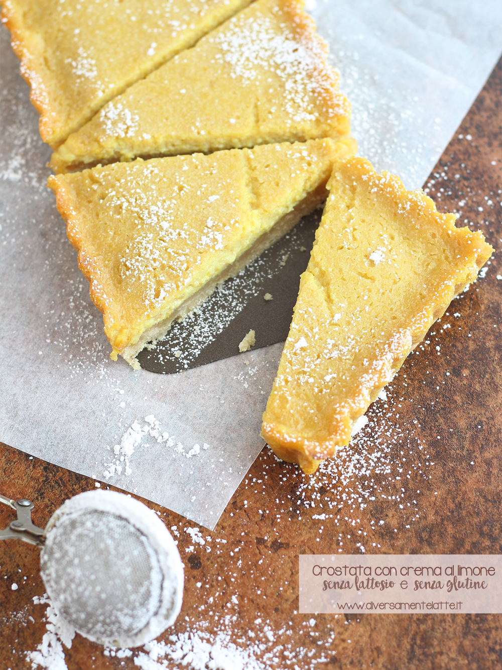 crostata con crema al limone senza lattosio senza glutine