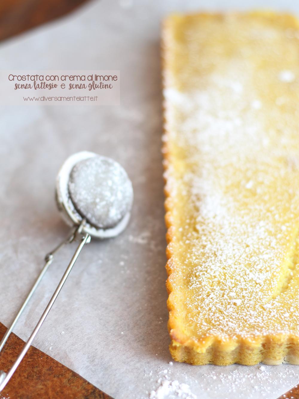 crostata con crema all limone senza lattosio