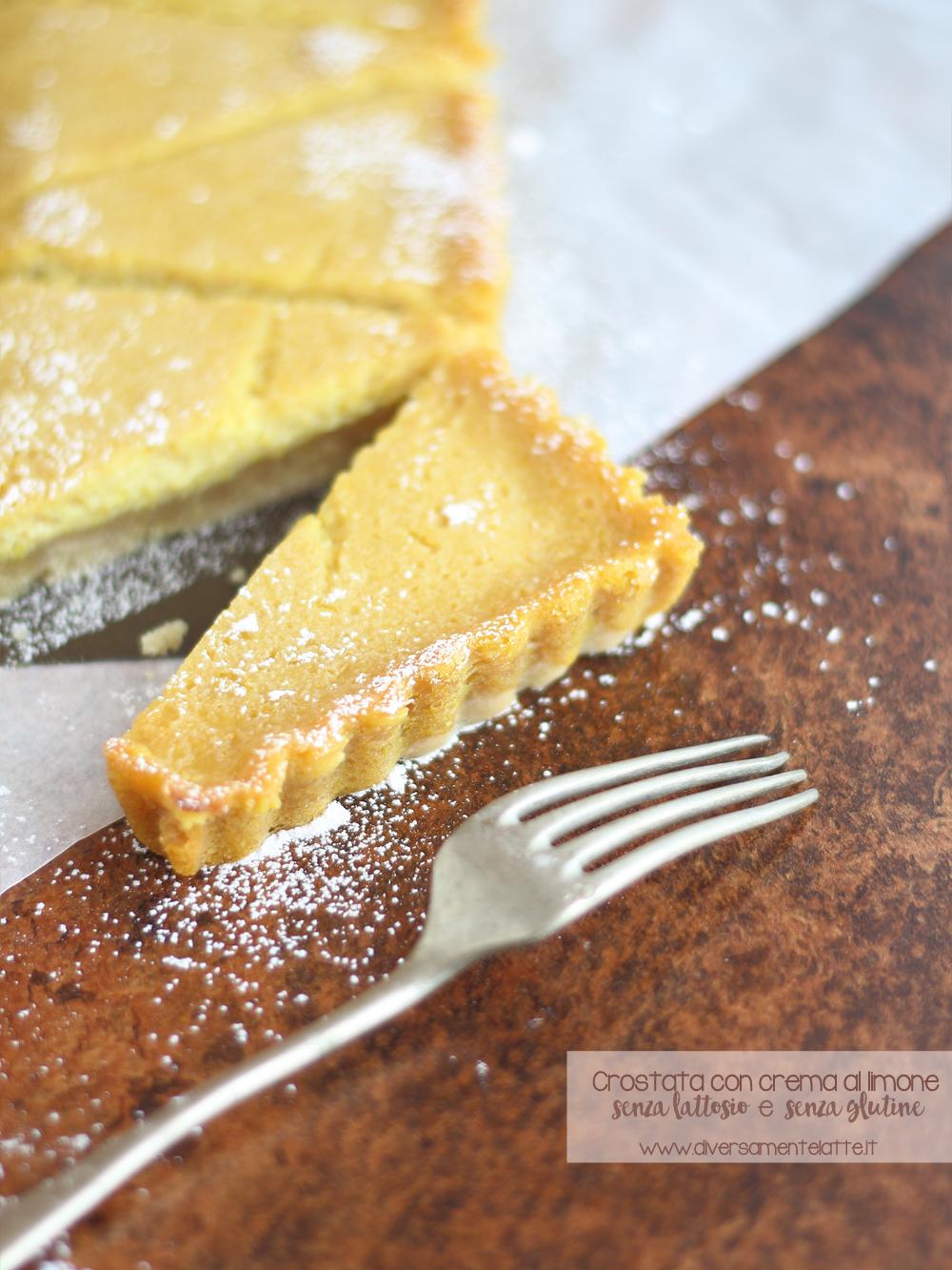 crostata vegana con crema al limone