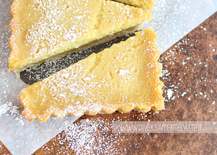 Crostata con crema al limone senza lattosio e senza glutine