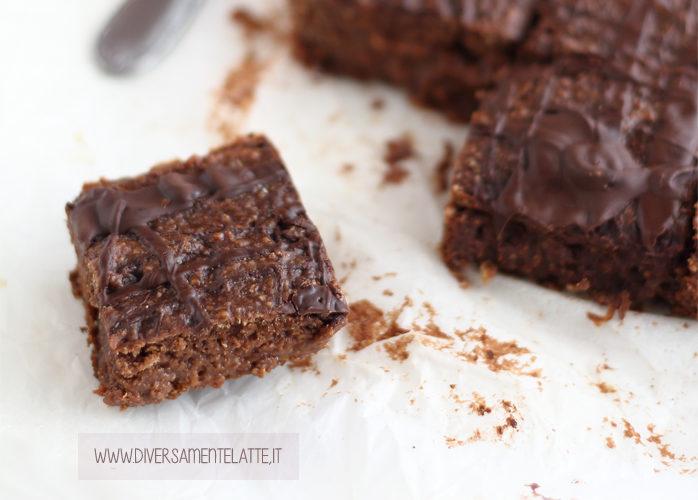 Brownies cioccolato e arancia senza lattosio e senza uova