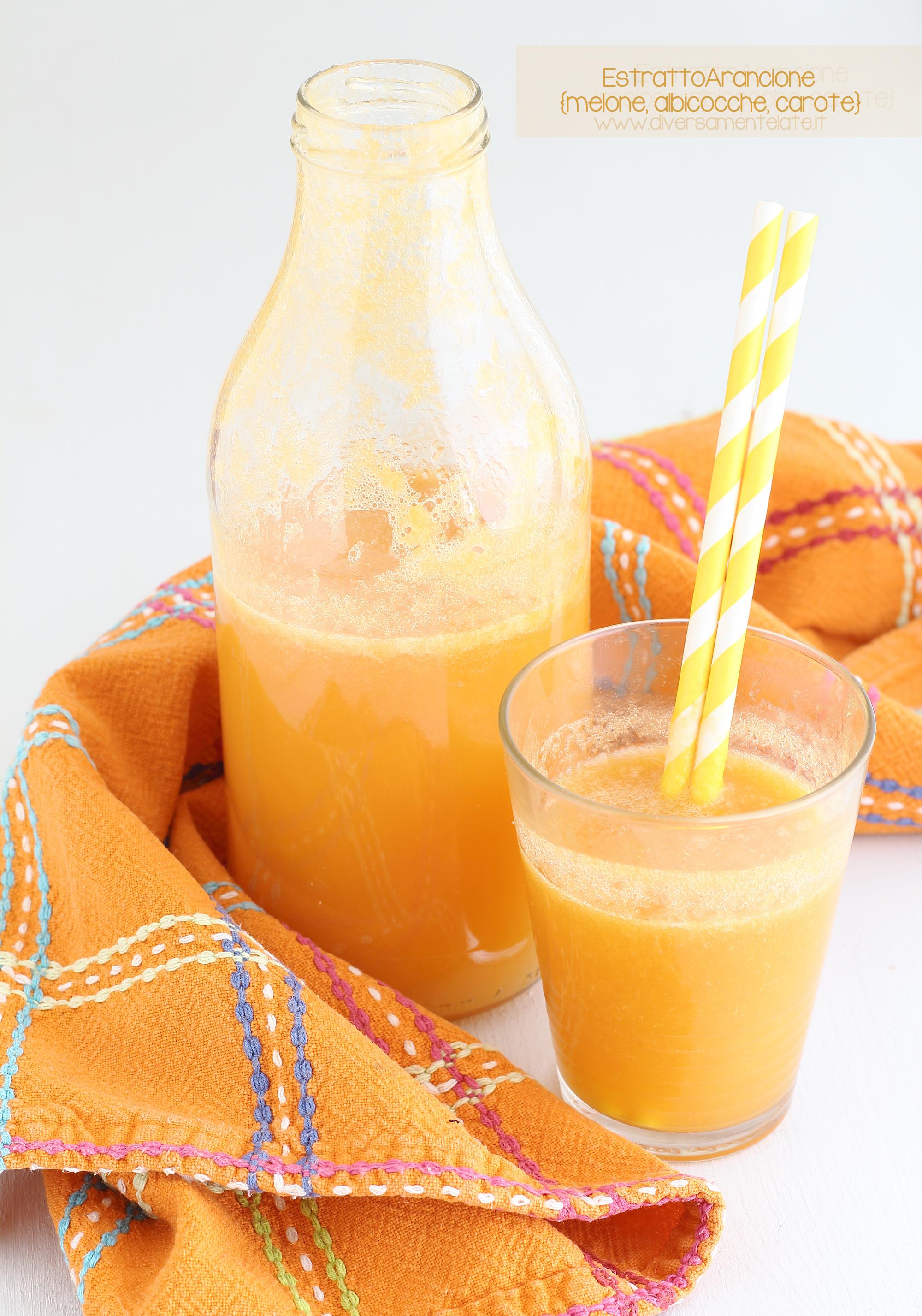 estratto melone albicocche carote