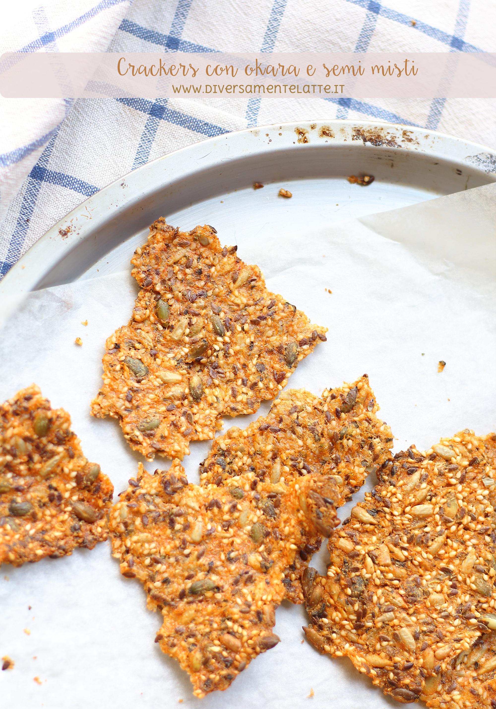 crackers con scarto del latte di riso