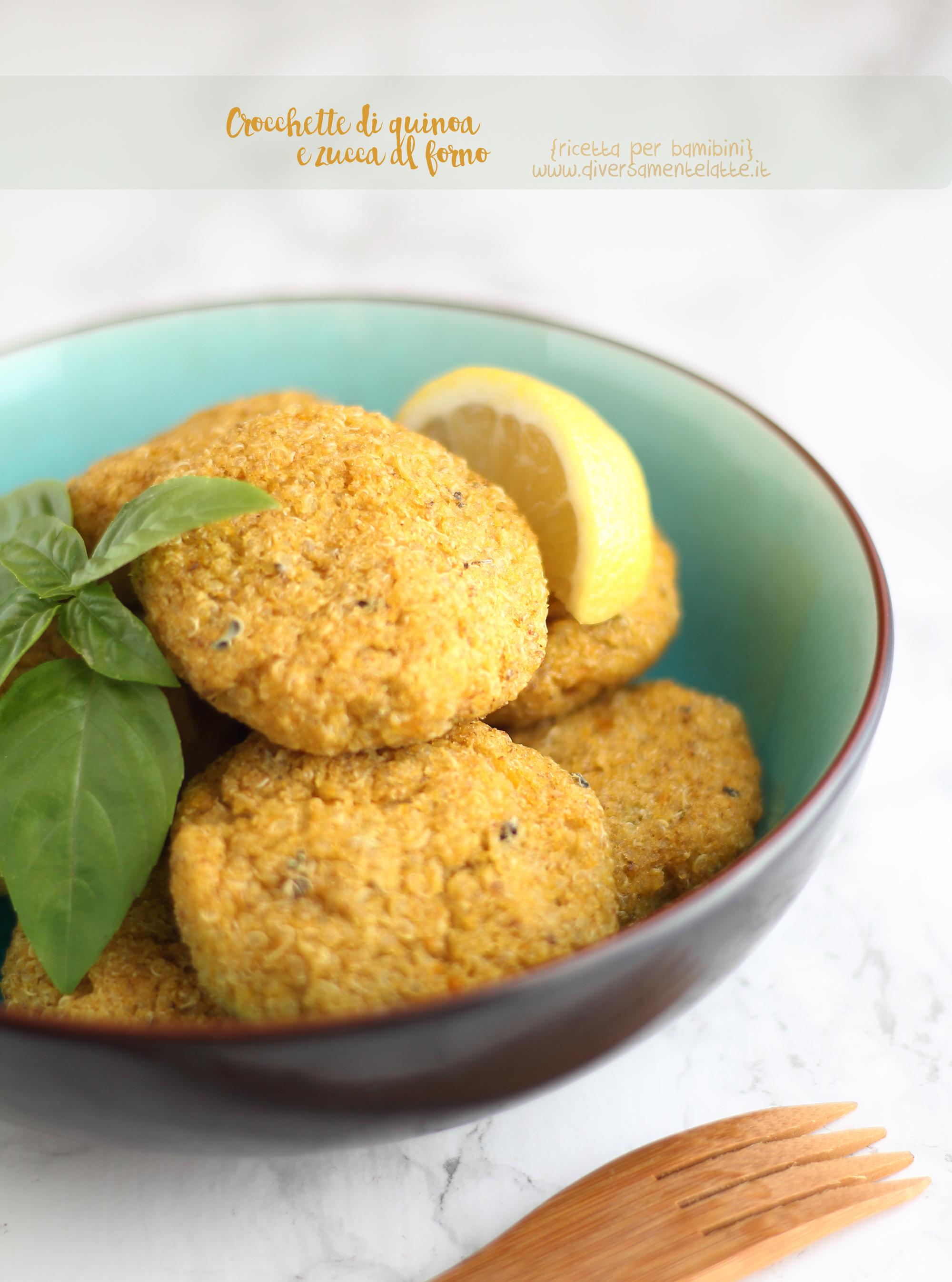 crocchette di quinoa e zucca ricetta per bambini