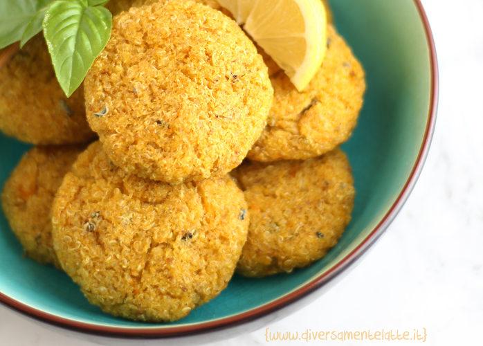 Crocchette di quinoa e zucca al forno