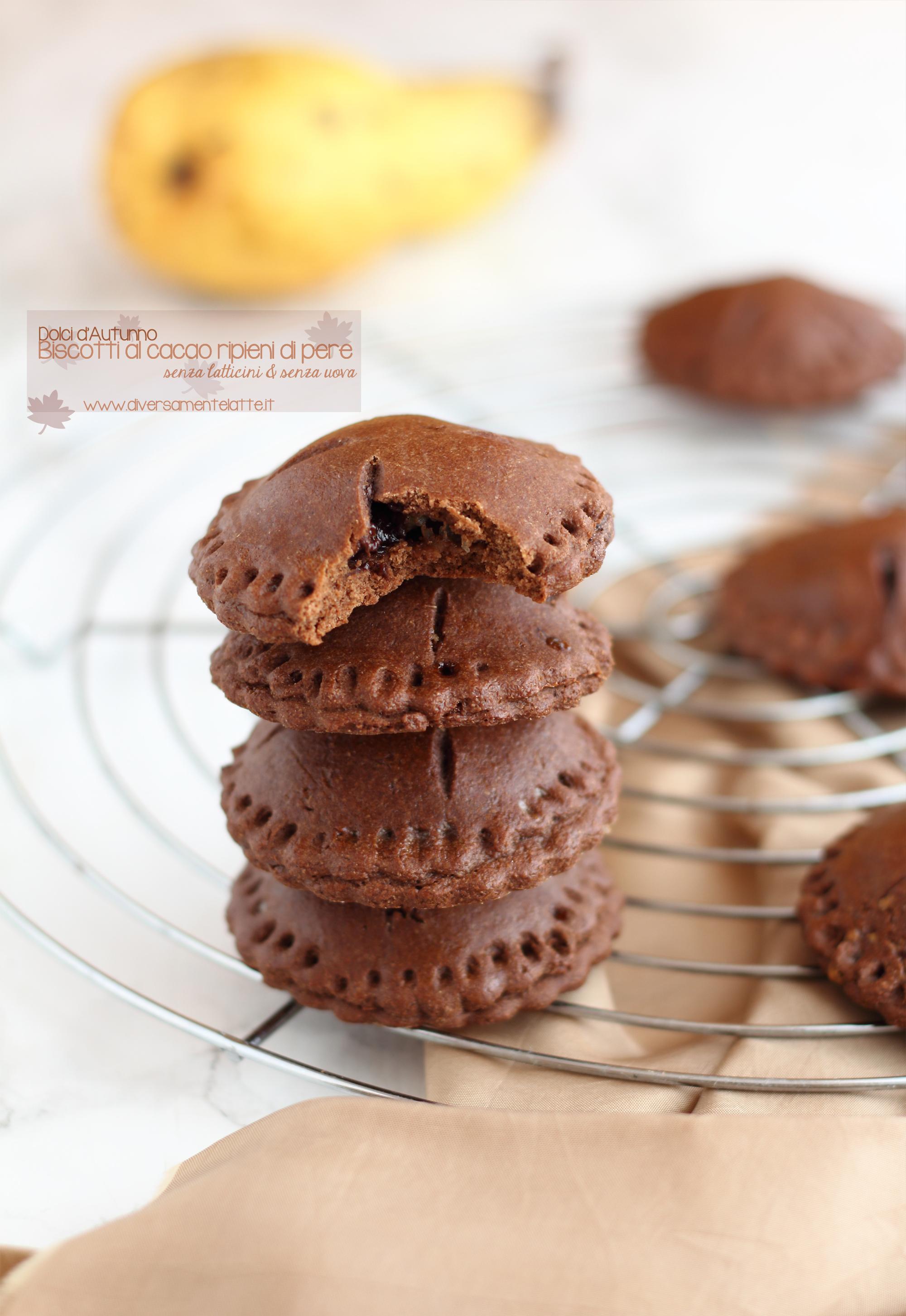 biscotti al cacao e pere senza latticini
