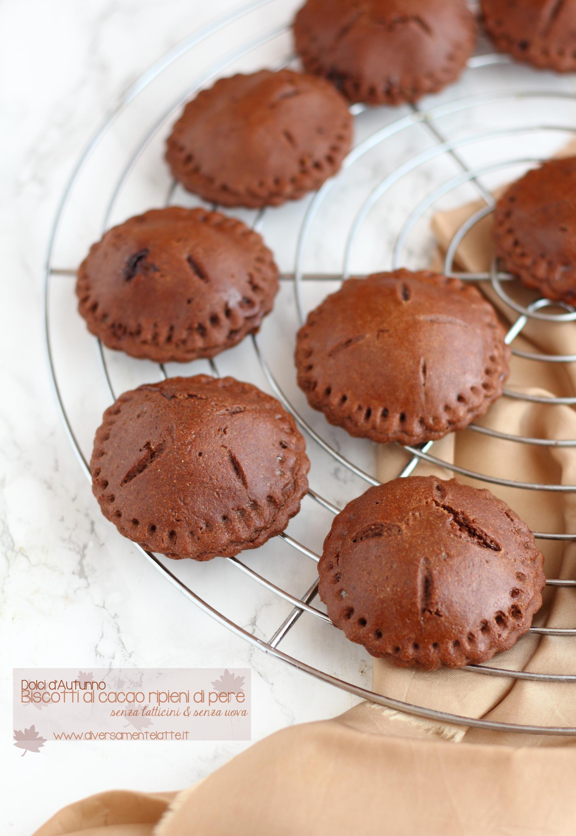 biscotti al cacao e pere