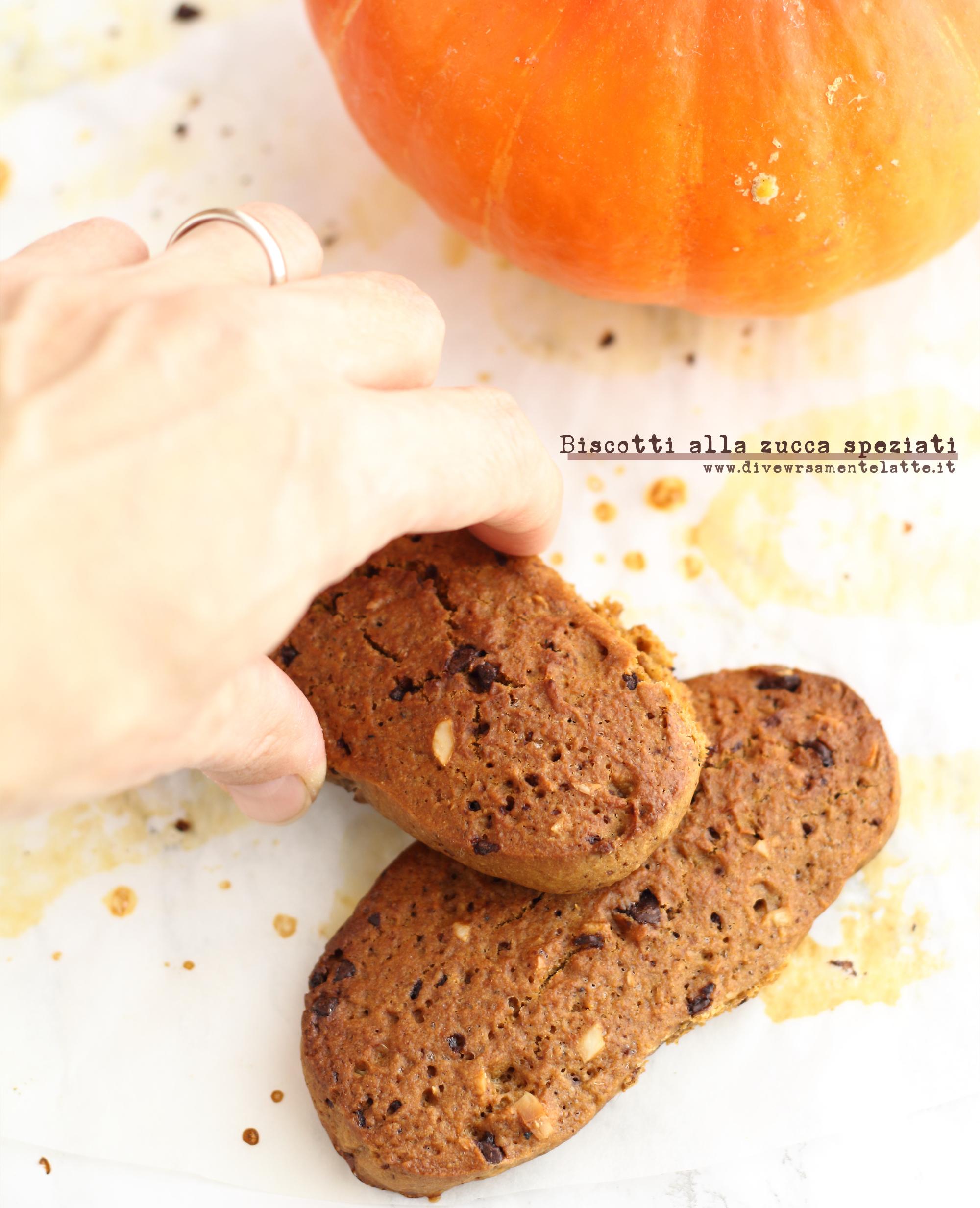 biscotti alla zucca senza burro
