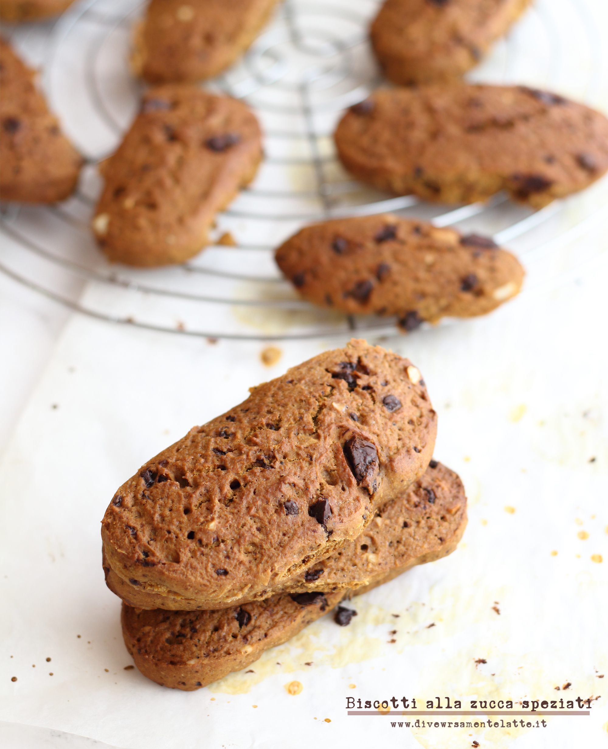 biscotti alla zucca senza lattosio