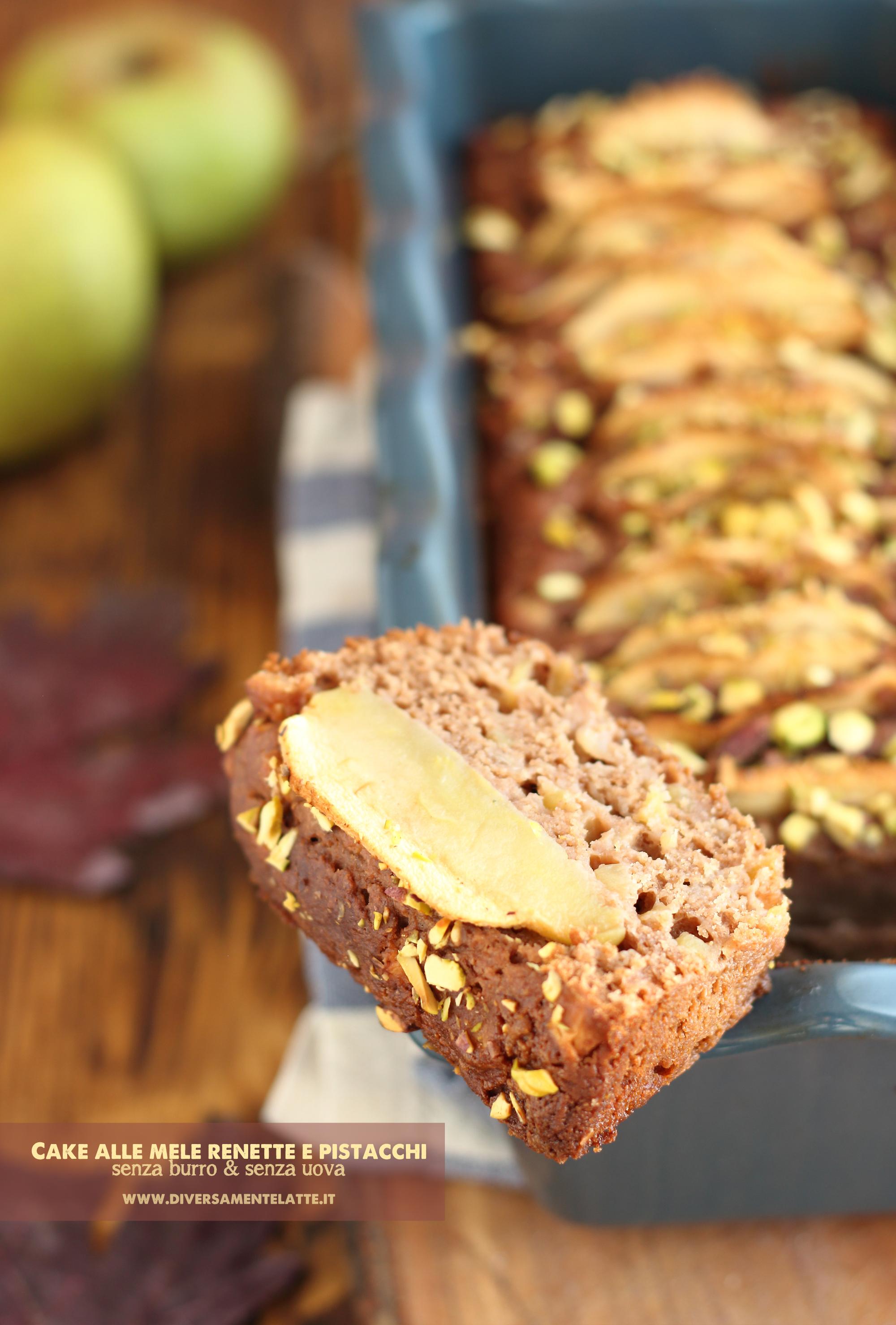cake mele e pistacchi senza pistacchi